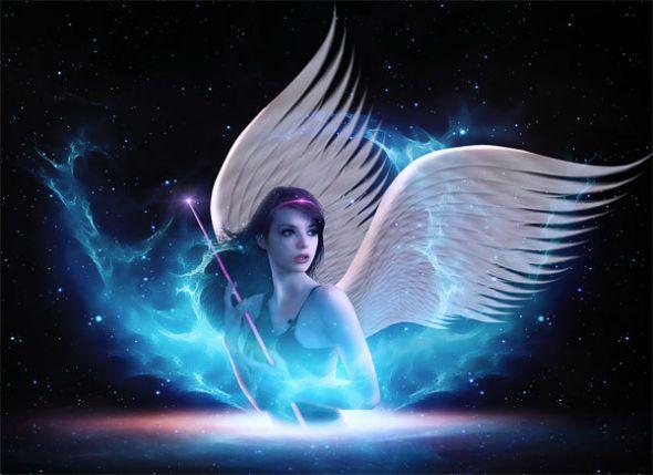 Create A Fantasy Space Age Light Angel Scene Photoshop