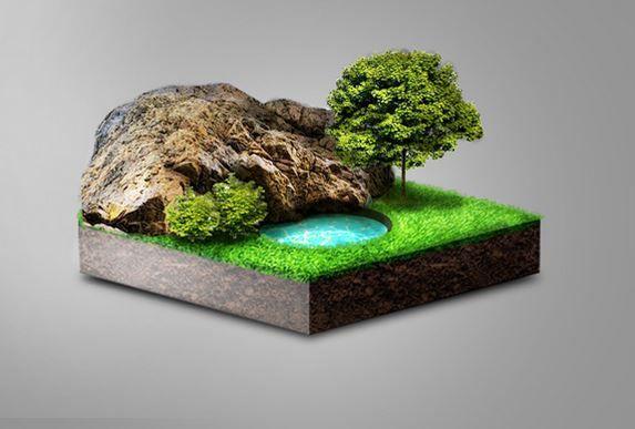 convert a landscape photo to 3d with photoshop photoshop