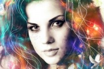 Make a cool colorful portrait effect in photoshop using nebula stock