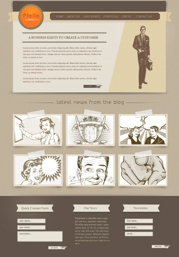 how to create a vintage website template in photoshop photoshop