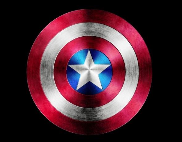 Captain America Shield Drawing: Captain America Shield In Photoshop
