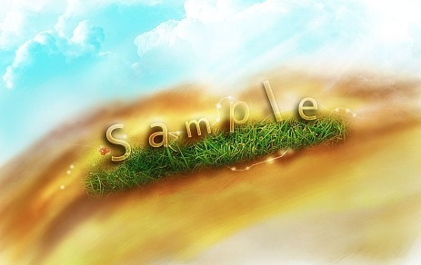 Create a Transparent Text Effect with Fresh Grass Texture and Custom