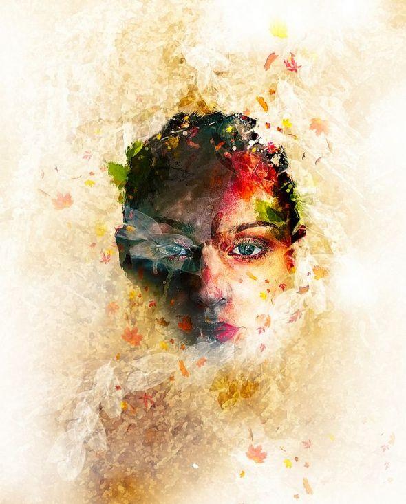 Text Logo Design Ideas Create Leafy Face Phot...